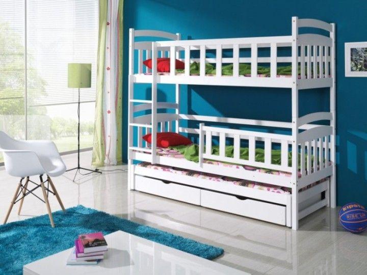 Etagenbett Für 3 : Massivholz kiefer etagenbett liegeflächen inkl matratzen