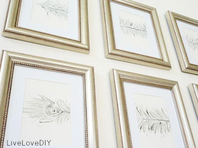 LiveLoveDIY: 10 DIY Wall Art Ideas That Anyone Can Do