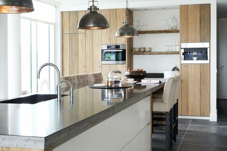 Arredamento cucine in muratura con isola top marmo for Cucine in muratura con isola