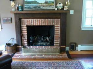 Brick Tile Fireplace Surround And Hearth With Border Set In