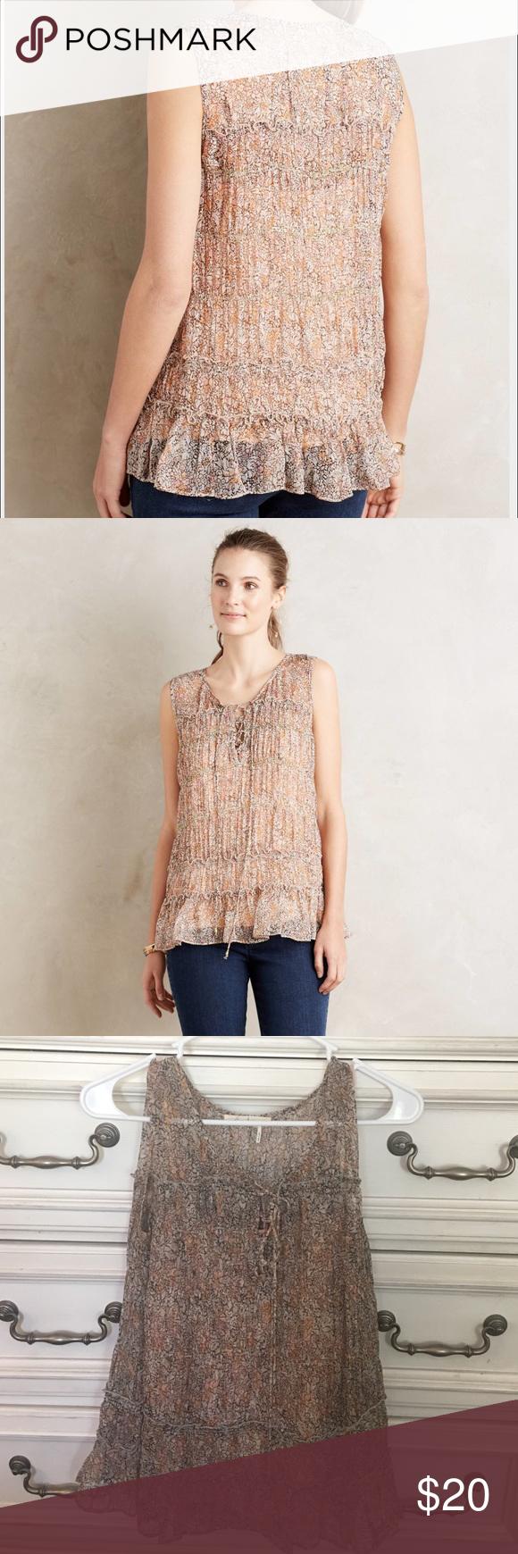 Floreat Calla Lace Top EUC Worn Once. Calla Lace Top. Anthropologie Tops Tank Tops