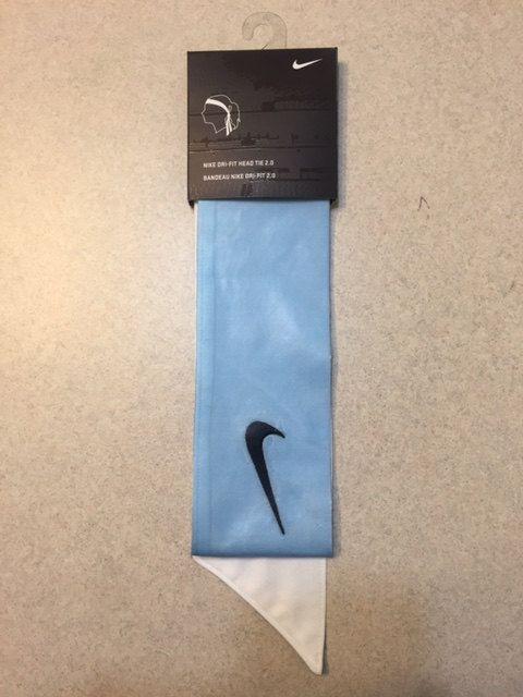 Custom Carolina (Light   Sky ) Blue Nike Dri-Fit Head Tie Headband - Black dc86ae0a537