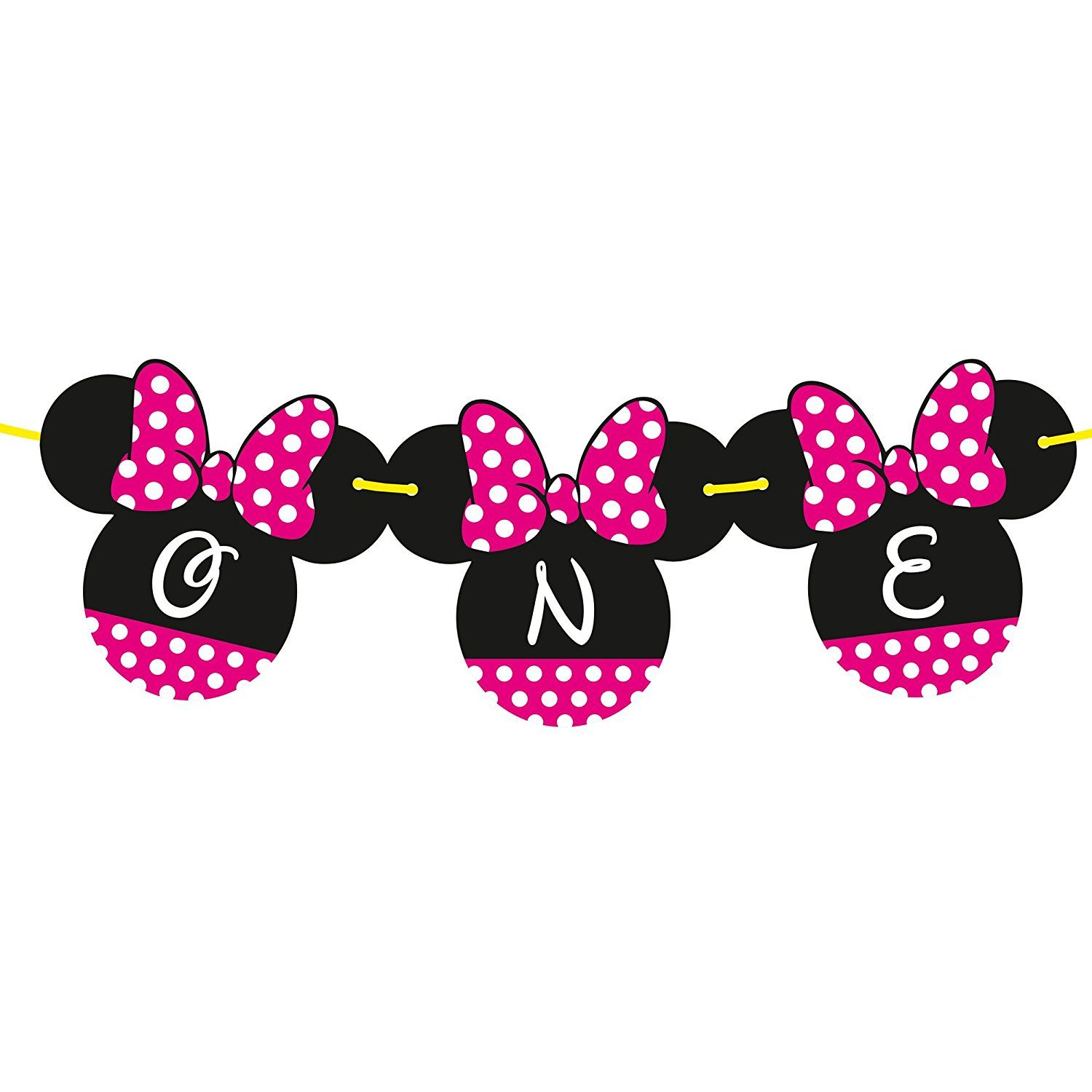 Amazon Minnie Mouse 1st Birthday Banner