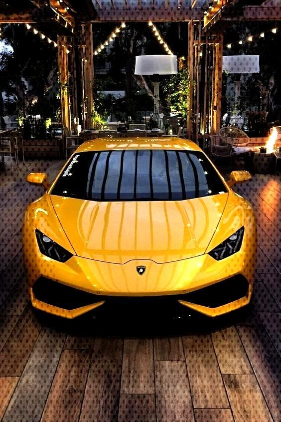 Yellow Lamborghini inside a villa luxury wallpaper Perfect wallpaper for your iPhone if you're lo