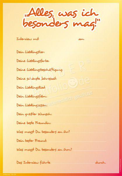 Kindergarten Portfolio Vorlage \
