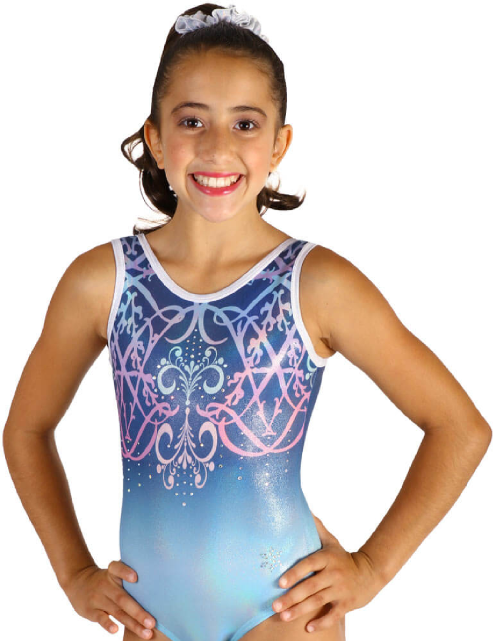 Boys Gymnast Singlet Black Blur Abstract Gymnastics Child Medium only