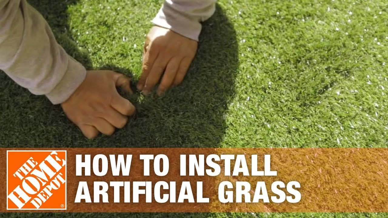 How To Install Artificial Grass The Home Depot In 2020 Artificial Grass Installation Artificial Grass Artifical Grass