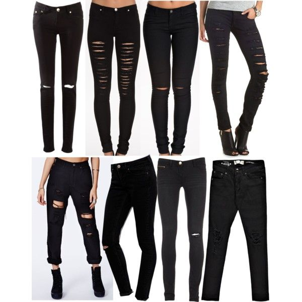Collection Black Ripped Skinny Jeans For Women Pictures - Reikian