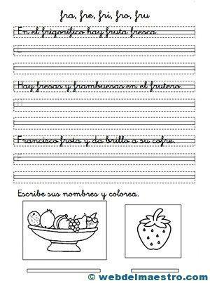 Ejercicios de caligrafía y ortografía - Recursos