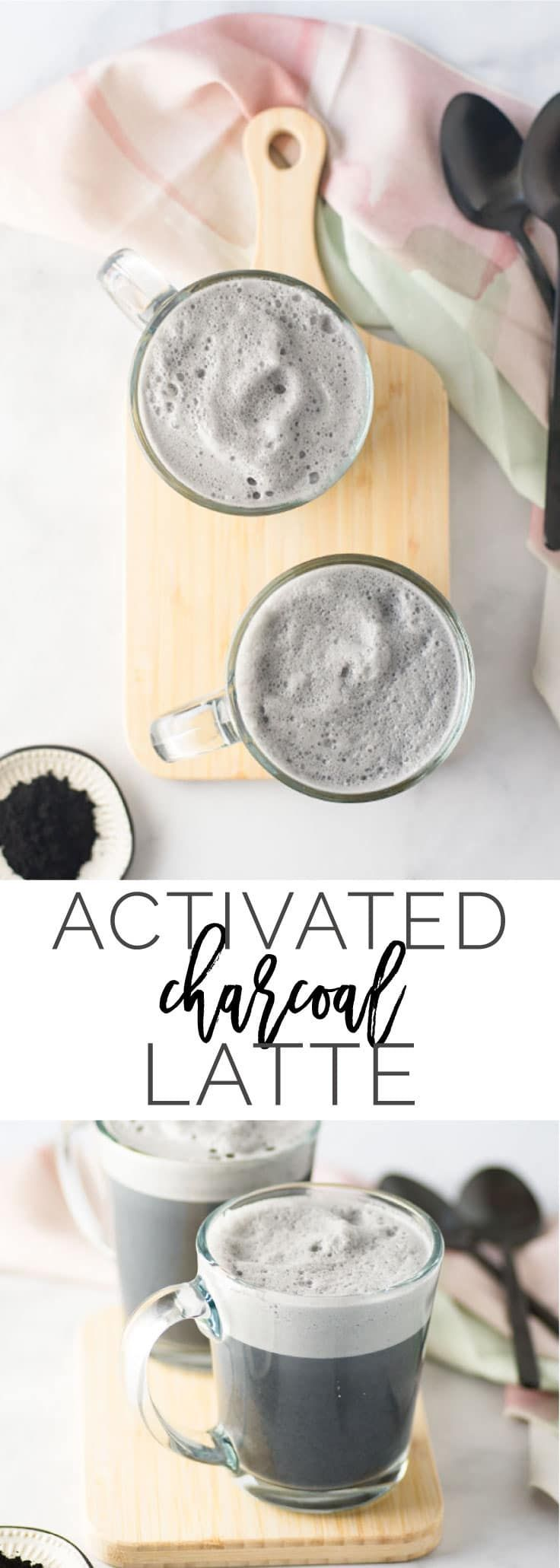 Charcoal Latte -- Let your inner-goth squeal with this black charcoal latte! It's all you need to detox and feel great. Activated charcoal has amazing benefits for the inside and out and when paired with almond milk, makes a delicious and healthy beverage! - mindfulavocado