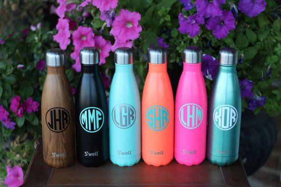 Monogram S Well Bottles Sorority Von Darlingcustomdesigns