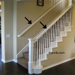 Hand rail for stairs code railing stairway handrail - Interior stair railing contractors ...