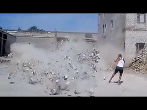 Building Demolition Accident - YouTube