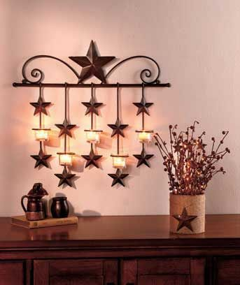 Light Your Home With The Country Charm Of Rustic Star Decor Accessories Incorporate
