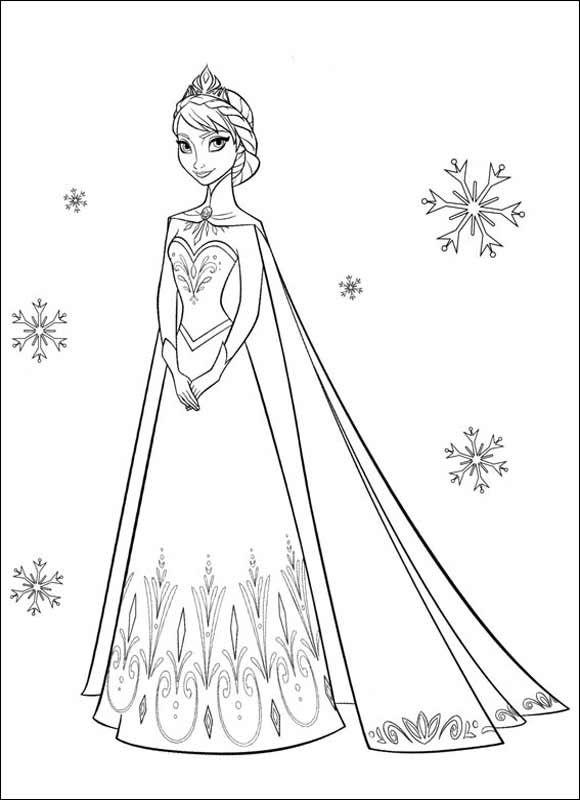 ausmalbilder eiskönigin 01 | Malvorlagen | Pinterest