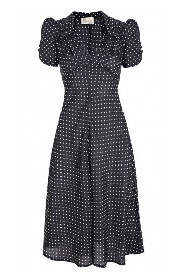 Tara Starlet 1940s 40s Style: Polkadot Sweetheart Dress (With Images