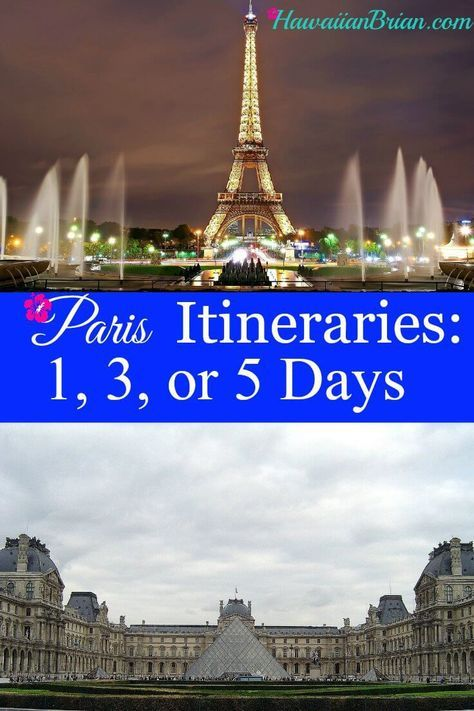 How To Make An Itinerary In Word Paris Itineraries 1 3 Or 5 Days  Pinterest  Paris France .