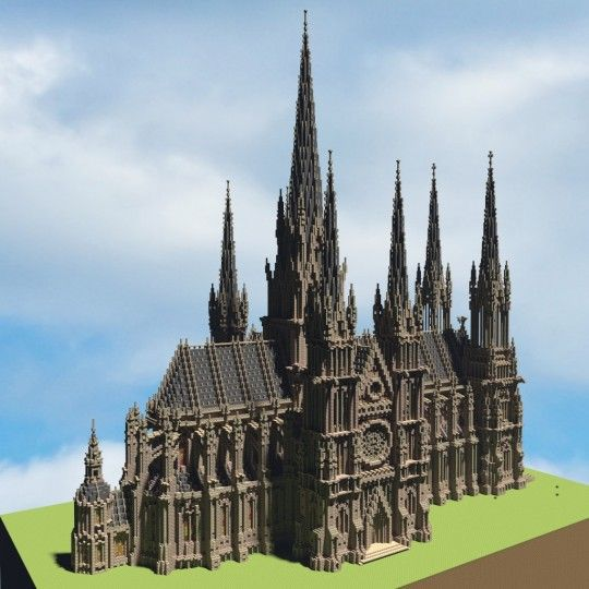 Ideal Cathedral 1 1 Scale Minecraft Project Minecraft Castle Minecraft Projects Minecraft Creations