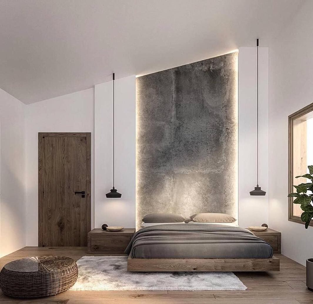 Feature Wall With Leds Modern Bedroom Design Minimalism Interior Beautiful Bedroom Designs