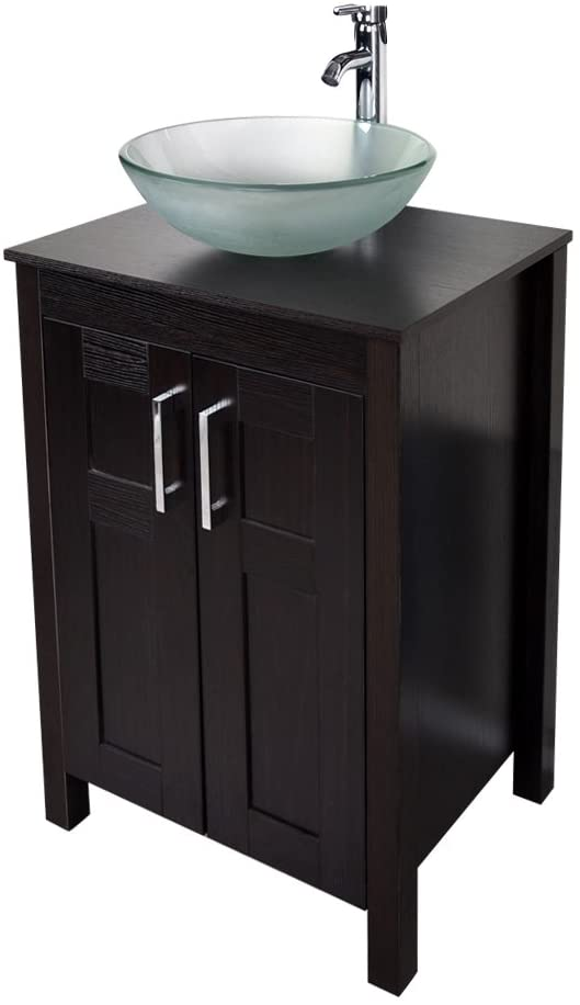 Amazon Com 24 Bathroom Vanity And Sink Combo Yourliteamz Stand Cabinet With Artistic Vessel S In 2020 Bathroom Vanity Bathroom Vanities For Sale 24 Bathroom Vanity