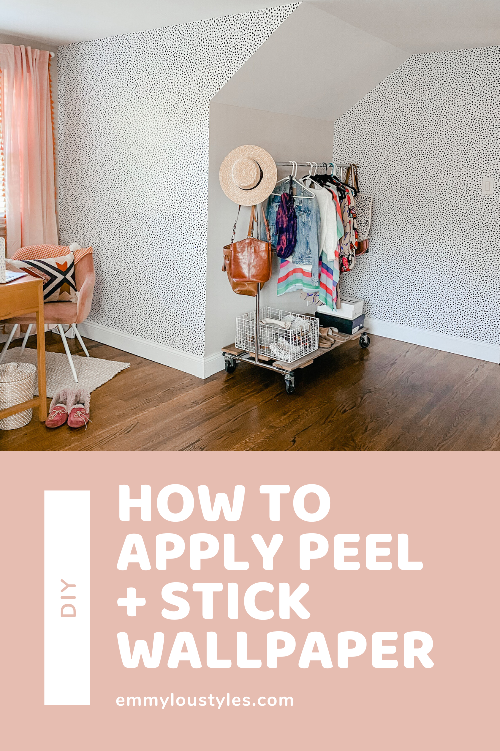How To Transform Your Space With Peel And Stick Wallpaper Emmy Lou Styles Peel And Stick Wallpaper Fun Diy Projects For Home Your Space
