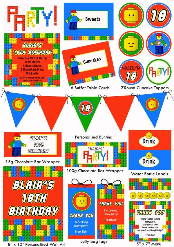 lego party | LEGO Printables http://invitations-party.com ...