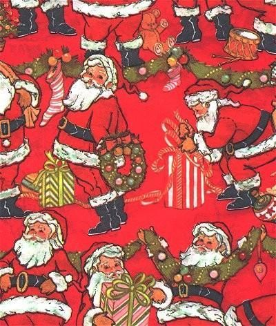 Santa Claus Christmas Wrapping Paper Red Vintage 1960s Gift Wrap Vintage Christmas Wrapping Paper Christmas Gift Wrapping Paper Christmas Wrapping Paper