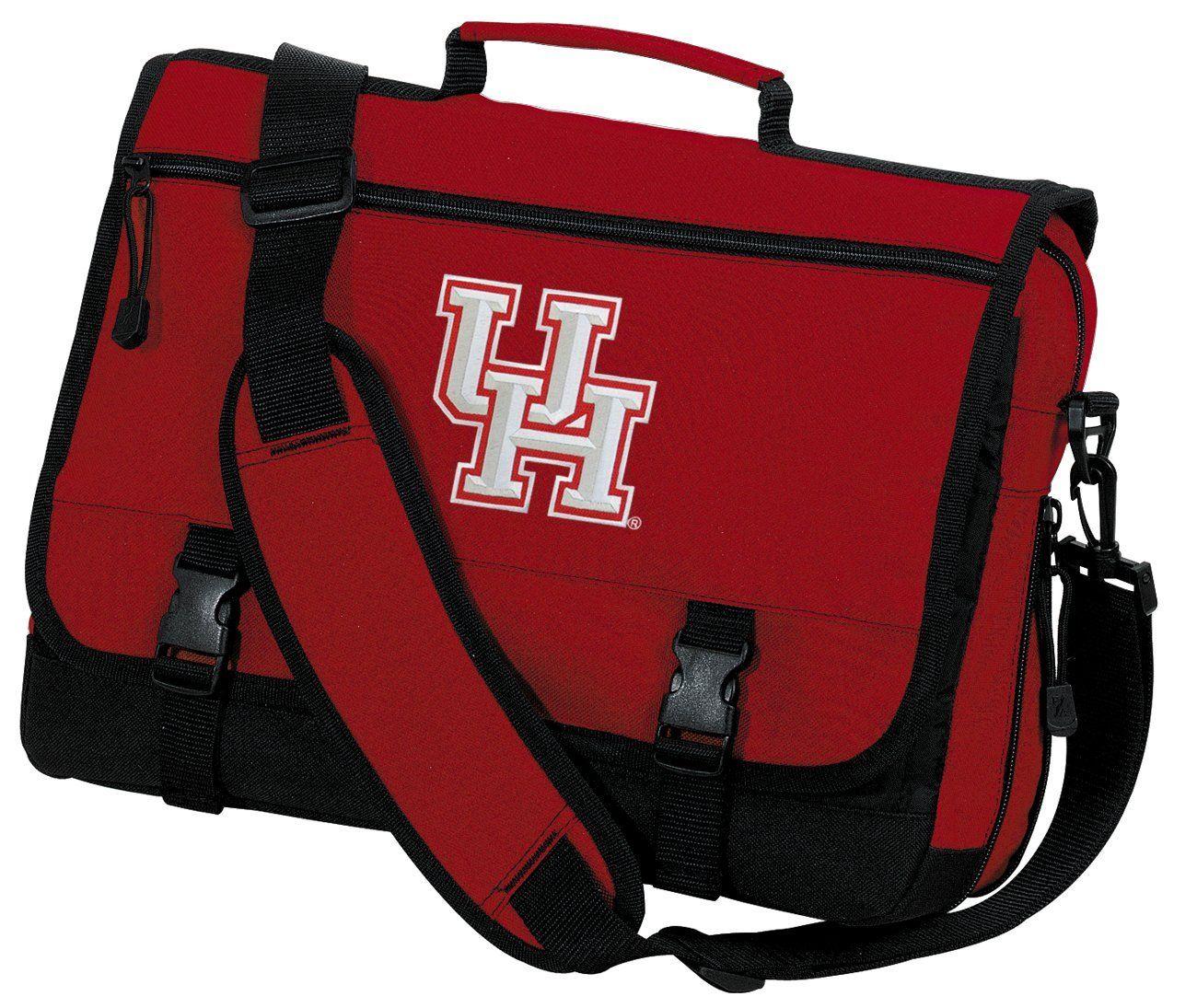 Amazon Com University Of Houston Laptop Bag Uh Messenger Bag Or Computer Bag Sports Outdoors With Images Messenger Bag Bags School Bags