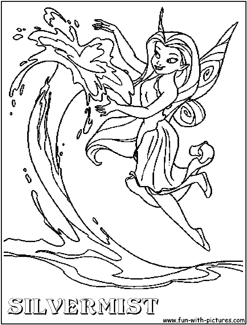 Silvermist Tinkerbell coloring page birthday Pinterest