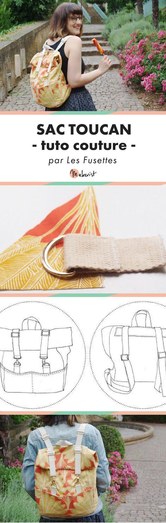 Patron gratuit du sac à dos Toucan – couture
