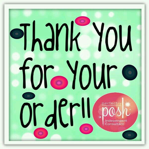 Thanks for ordering