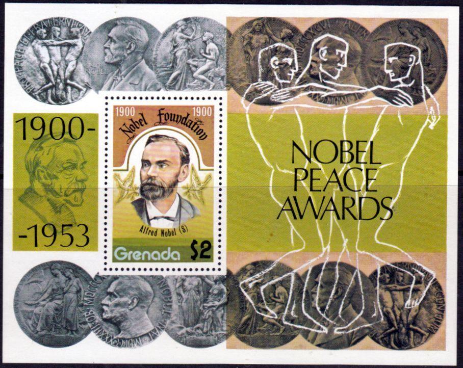 Grenada 1978 Nobel Prize Winners Set Fine Mint SG 906 Scott 833 Other Postage Stamps Here