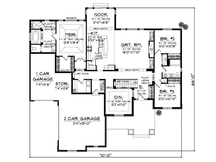 1600 Sq Ft House Plans 3 Bedroom Square Foot Without Garage Design Kerala With C Bedro