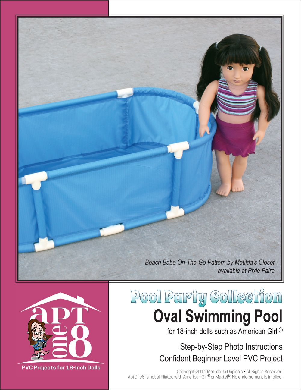 make your 18 inch doll a backyard swimming pool from rip stop
