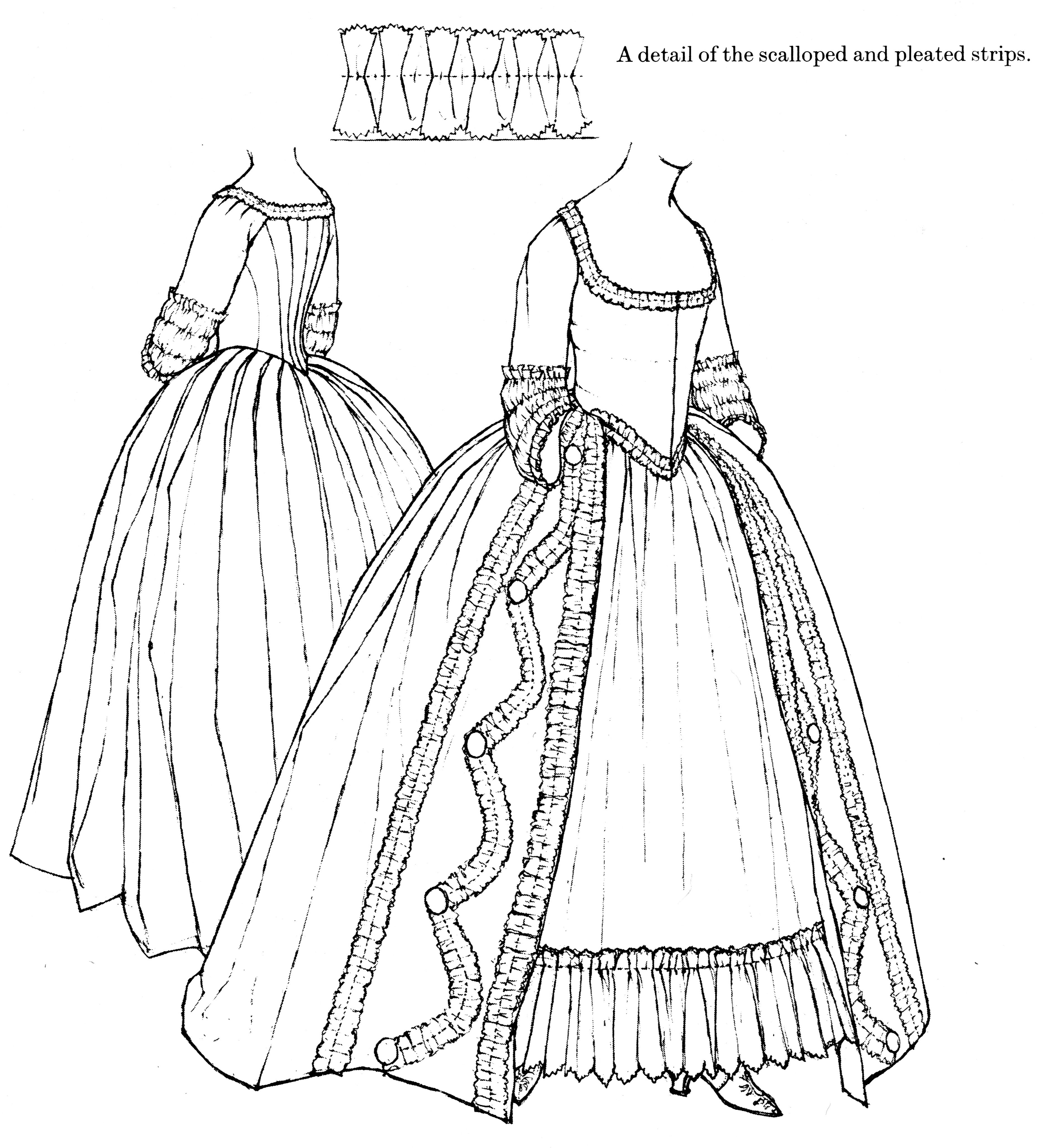 An Open Gown and Matching Petticoat C1775-85, Snowshill Manor ...