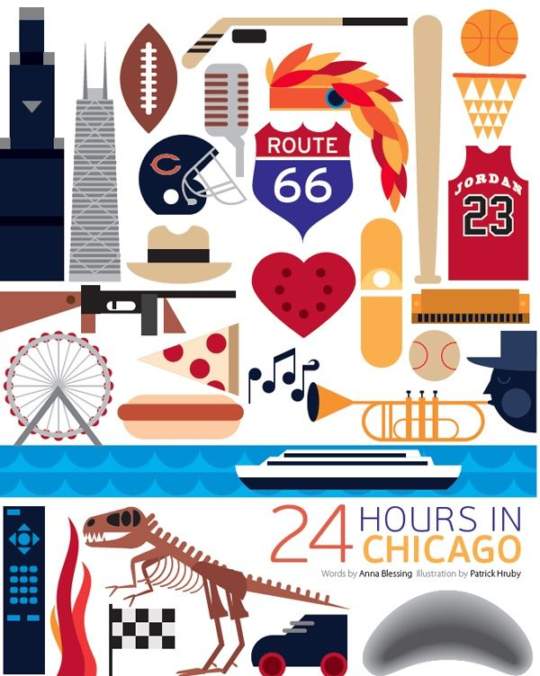 #Chicago #Illinois #United_States #USA http://directrooms.com/united-states-illinois/hotels/chicago-hotels/price1.htm (World City Illustration by Patrick Hruby)