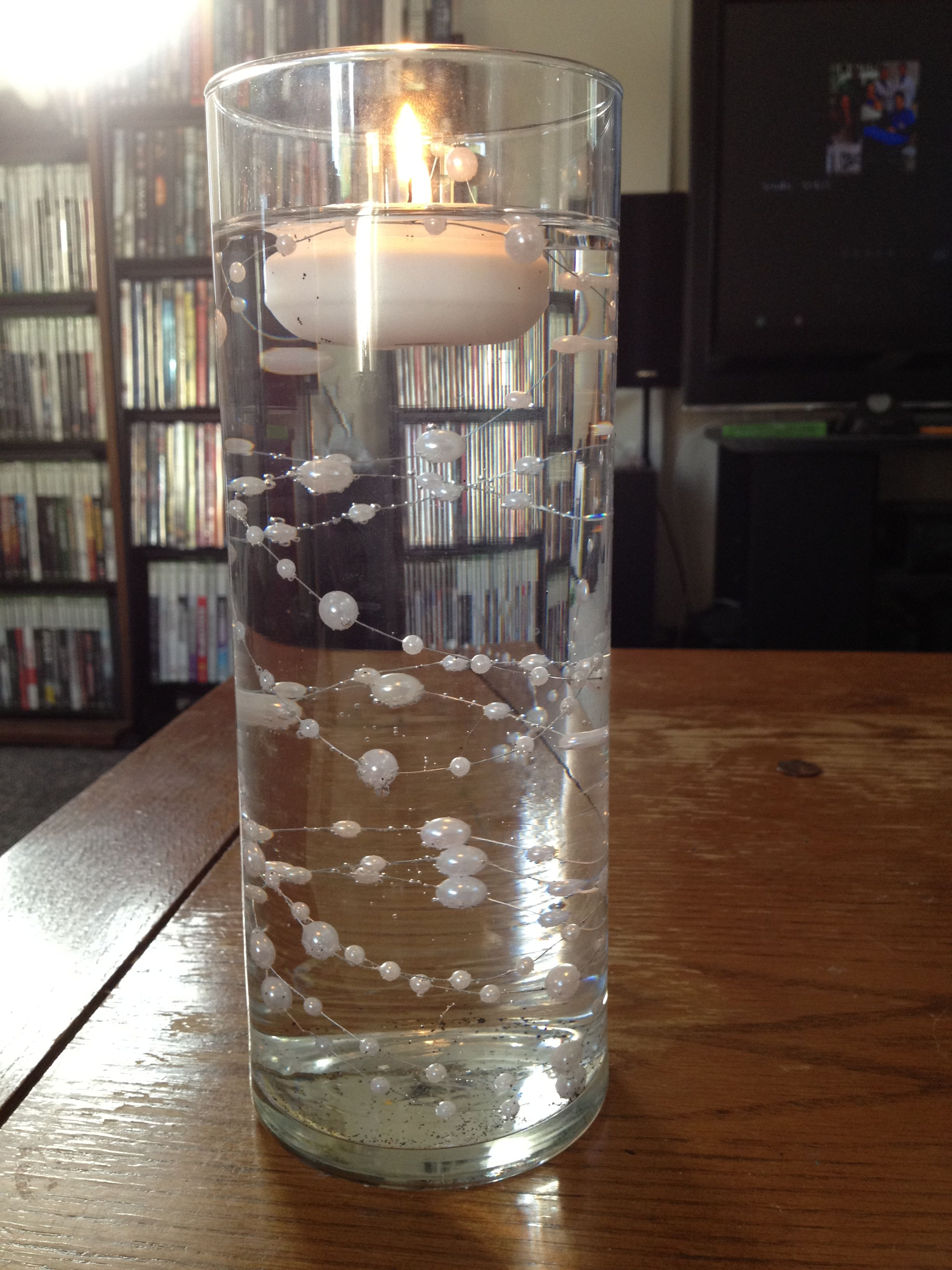 Submerged Beaded Fl Wire Joann Fabrics With Small Floating Candle Michaels