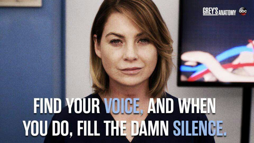 Sound of silence | Grey\'s Anatomy! | Pinterest | Anatomy, Grays ...