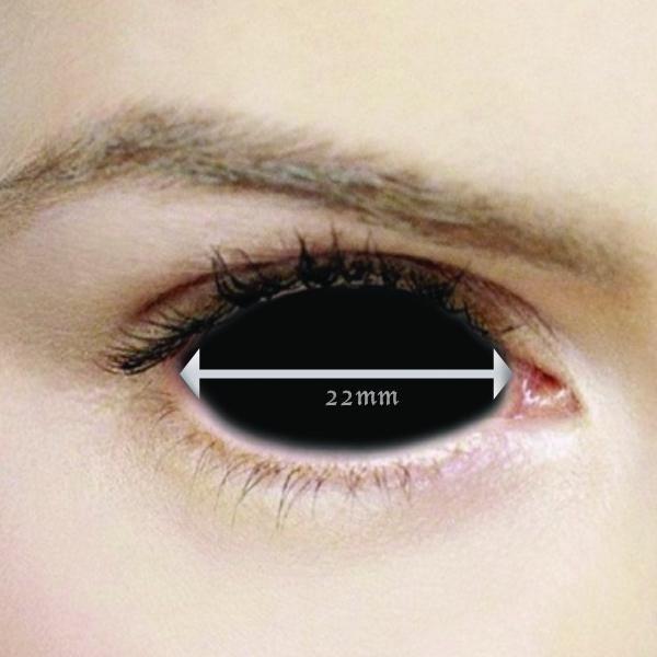 4af11019d6 Black Sclera 22mm Contact Lenses (Full Eye) in 2019