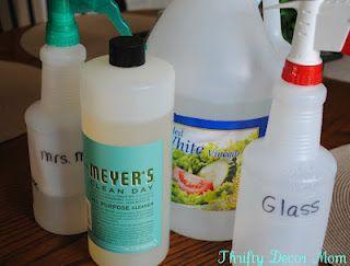 Diy W Mrs Meyers Countertop Spray Glass Cleaner Essential