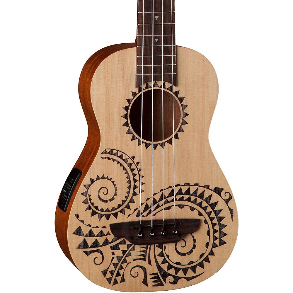 Luna Guitars Tattoo Ukulele Acoustic Electric Bass Luna Guitars Ukulele Design Guitar