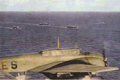 A convoy in progress in the mediterranean, bound for Tripoli
