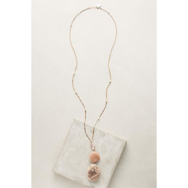 Anthropologie Sand Dunes Pendant ($54) ❤ liked on Polyvore featuring jewelry, pendants, rose, pendant jewelry, anthropologie jewelry, rose jewelry, rose jewellery and charm pendant