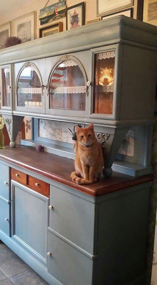 Fesselnd Allerschönste Deko❤ Für Mein Taubenblaues 20er Jahre Küchenbuffet Im Shabby  Chic