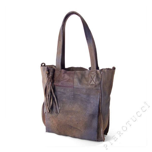 Caterina Lucchi Designer Shoulder Tote bag in leather and canvas ... 1195fca58f