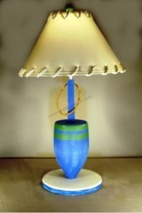 """Blue Buoy Electric Lamp 30"""" from Handcrafted Nautical Decor - In stock and ready to ship"""