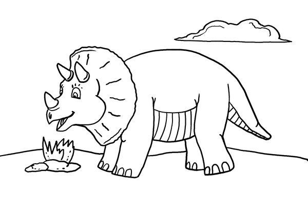 Free Printable Dinosaur Coloring Page Kindergarten art, Color - copy animal dinosaurs coloring pages