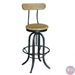 Lovely Sitting Pretty Furniture :: Designer Furniture Perth   Industrial Stool  With Back U0026 Recycled Elm