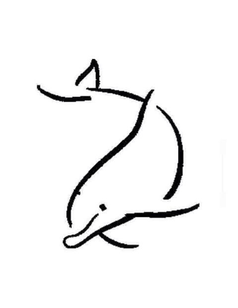 Simple Graphic Dolphins Tattoo Dolphin Drawing Henna Designs Easy