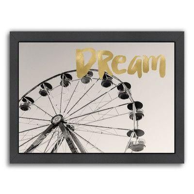 Americanflat Ferris Wheel Dream by Amy Brinkman Framed Photographic ...